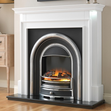 Flamerite Aubade with Tennyson Cast Electric Fireplace Suite