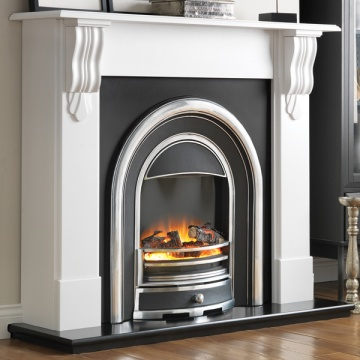Flamerite Corbel with Tennyson Cast Electric Fireplace Suite