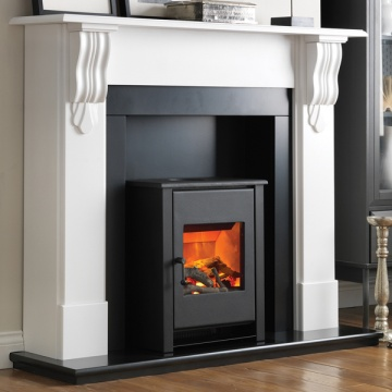 Flamerite Corbel with Atom Stove Electric Fireplace Suite