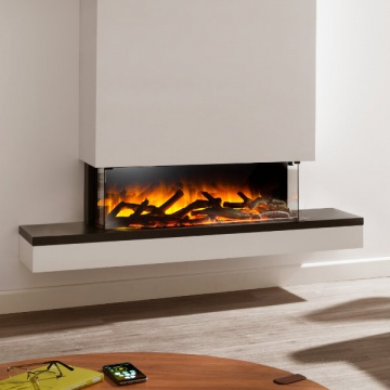 Flamerite Glazer 900 3-Sided Electric Fire with Exo Suite