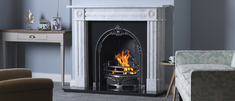 Gallery Collection Chiswick Carrara Marble Fireplace