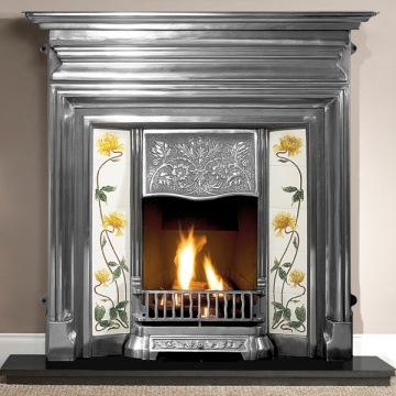Gallery Edwardian 48'' Cast Iron Combination Fireplace