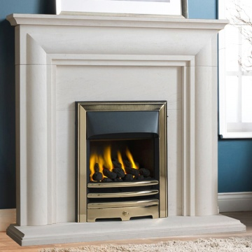 Gallery Ellerby Portuguese Limestone Fireplace Suite