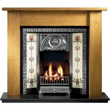 Gallery Lincoln Wooden Fireplace