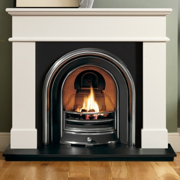 Gallery Pisa Ivory Marble Fireplace