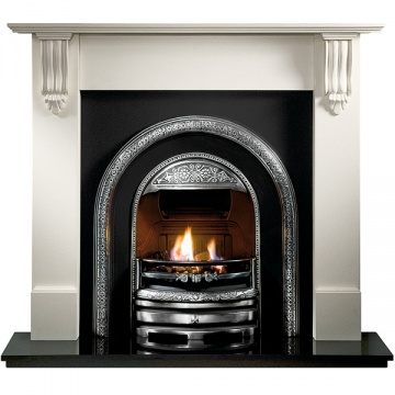 Gallery Richmond Agean Limestone / Cararra Marble Fireplace