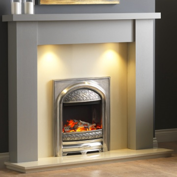 Pureglow Stanford Painted Fireplace - Grey