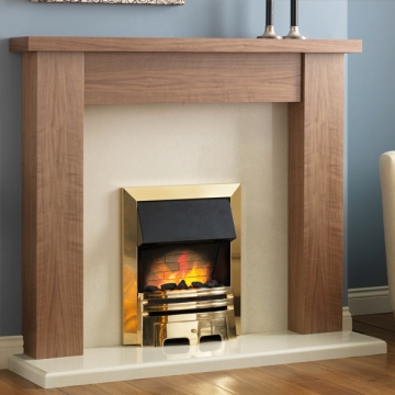 Pureglow Stanford Walnut Fireplace