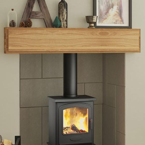 Be Modern Mayley Solid Oak Fireplace Beam   Flames.co.uk
