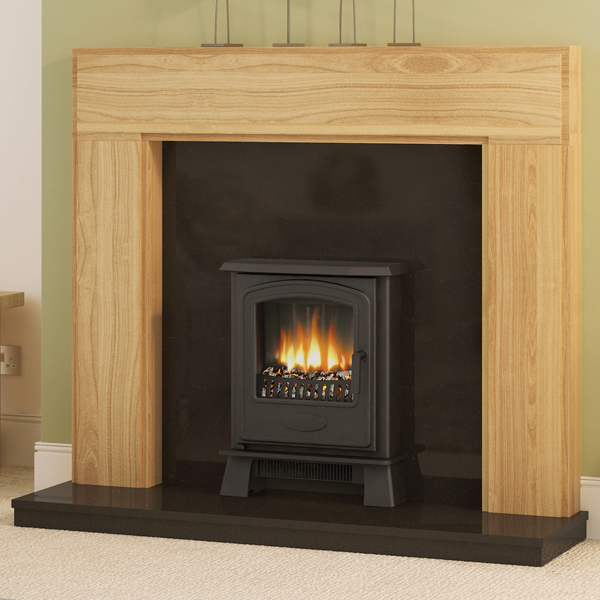 Be modern whinfell solid oak fireplace surround for Large modern fireplaces