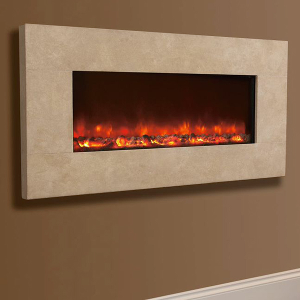 Celsi Electriflame XD Travertine Wall-Mounted Electric ...