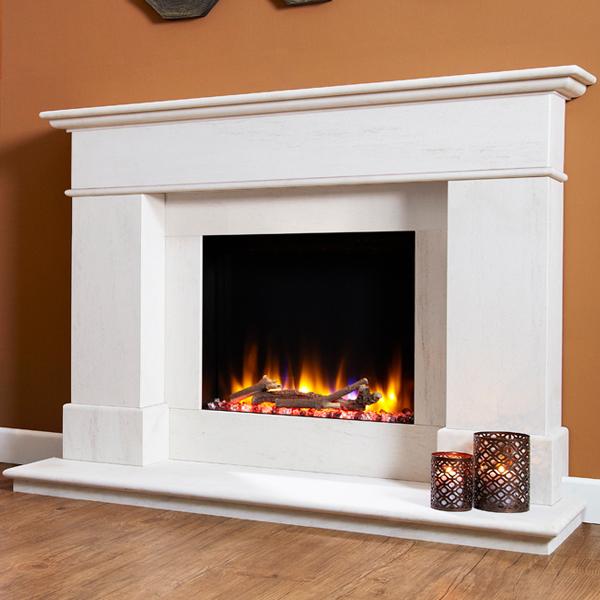 Celsi Ultiflame VR Avignon Limestone Electric Fireplace ...