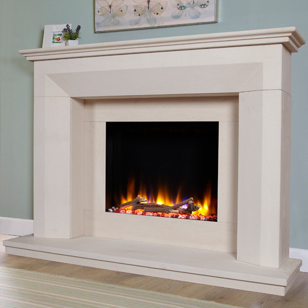 Celsi Ultiflame VR Lille Limestone Electric Fireplace ...