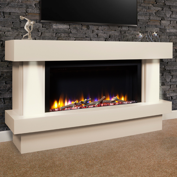 Celsi Ultiflame Vr Orbital Illumia Electric Fireplace Suite Flames