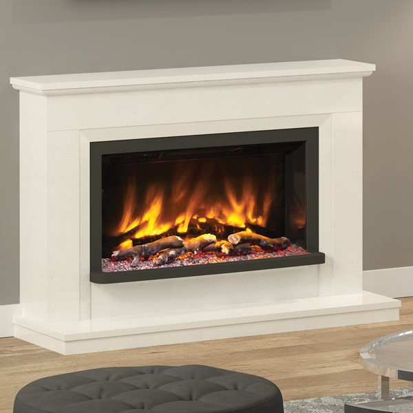 Elgin Amp Hall Pryzm Vistus Marble Electric Fireplace Suite