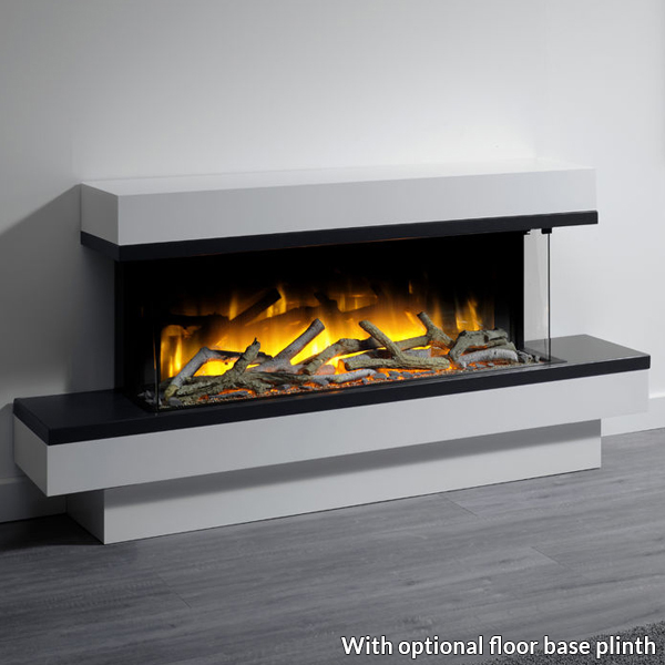 Fine Flamerite Glazer 1000 3 Sided Electric Fire With Exo Suite Download Free Architecture Designs Rallybritishbridgeorg