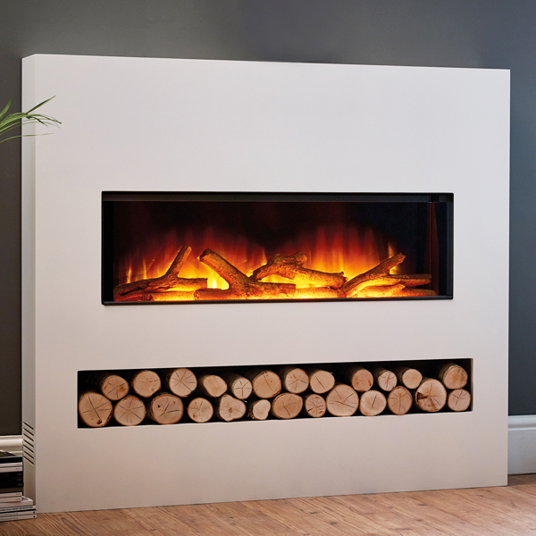 Flamerite Gotham 900 Electric Fire With Freestanding Suite Flames Co Uk