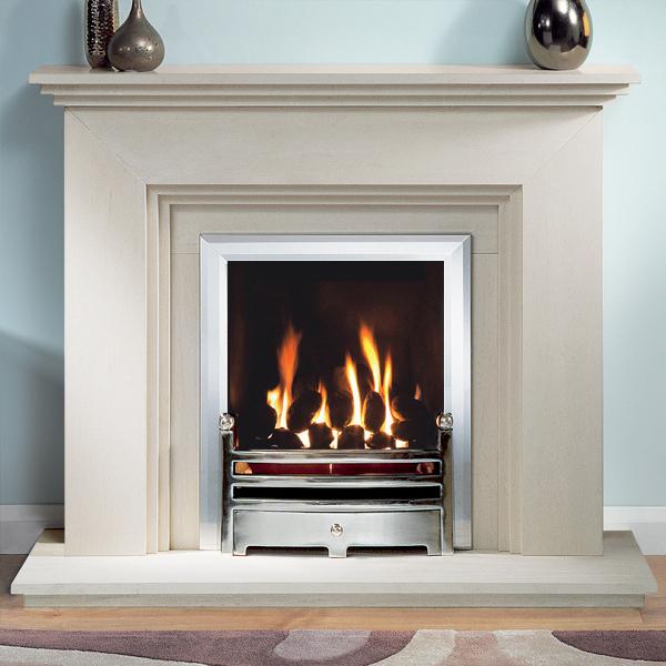 Gallery Cranbourne Portuguese Limestone Fireplace Suite ...