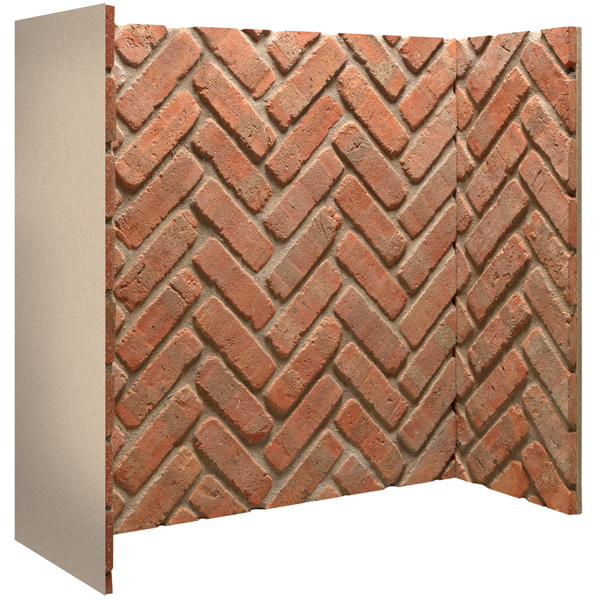 Gallery Rustic Herringbone Brick Fireplace Chamber Panels Flames Co Uk