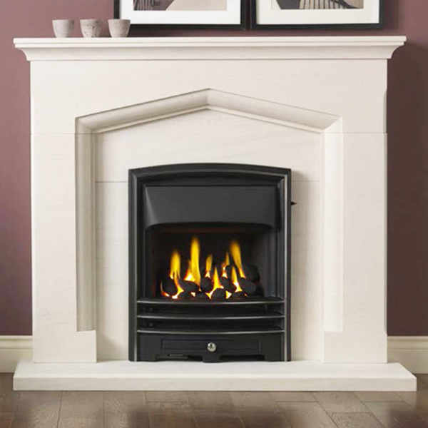 Gallery Kendal Portuguese Limestone Fireplace Suite Flames Co Uk