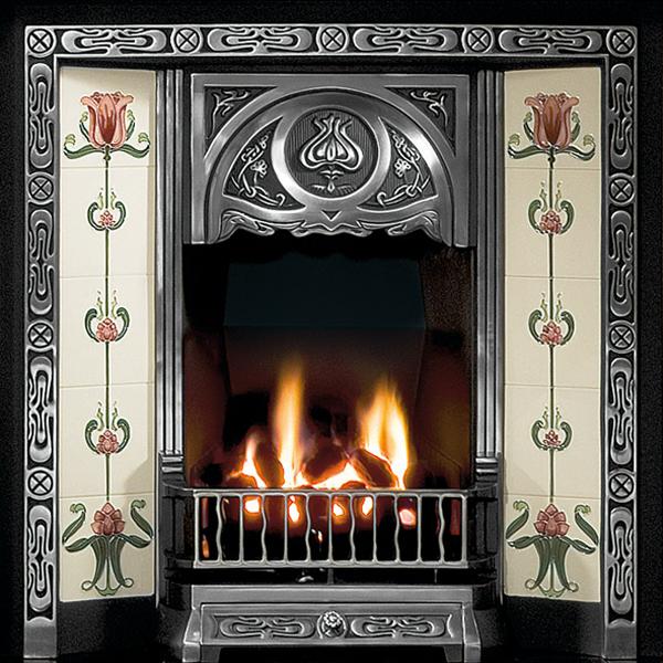 gallery tulip cast iron tiled fireplace insert rh flames co uk cast iron electric fireplace inserts cast iron electric fireplace stove