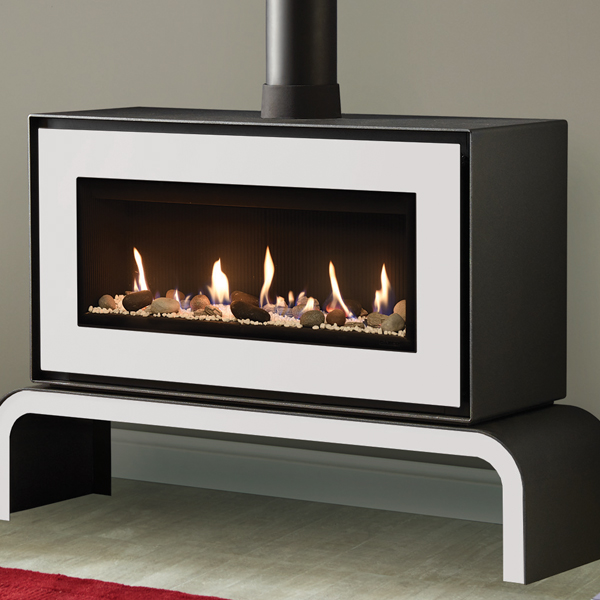 Gazco Studio 2 Freestanding Balanced Flue Gas Fire Flames Co Uk