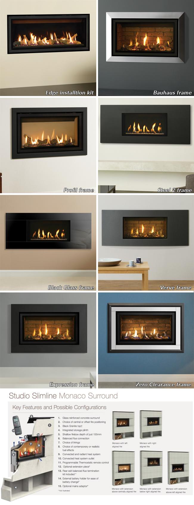 Gazco Studio 1 Slimline Balanced Flue Gas Fire