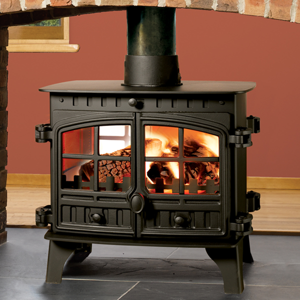 Brand-new Hunter Herald 8 Double Sided Wood Burning & Multi-Fuel Stove  EY82