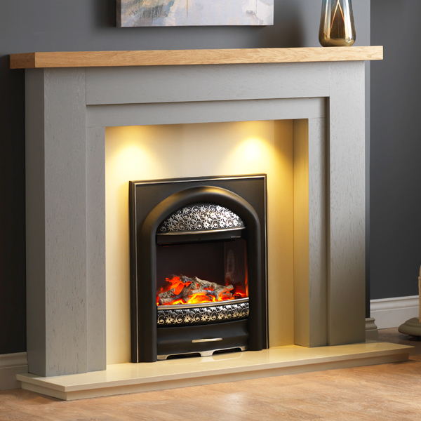 Pureglow Hanley Painted Fireplace, How To Paint A Wooden Fire Surround