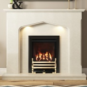 Be Modern Mataro Marble Fireplace