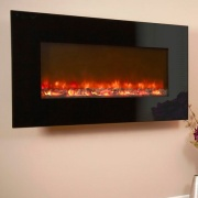 Celsi Electriflame XD Black Glass Wall-Mounted Electric Fire