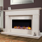 Celsi Ultiflame VR Avignon Elite Limestone Electric Fireplace Suite