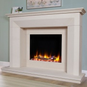 Celsi Ultiflame VR Lille Limestone Electric Fireplace Suite