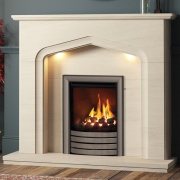 Elgin & Hall Aurelia Limestone Fireplace