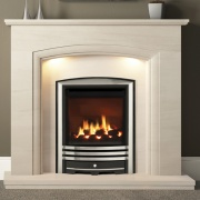 Elgin & Hall Elissa Limestone Fireplace