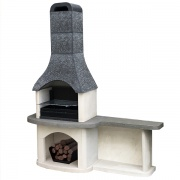 Evolve Sorrento Masonry Barbecue with Side Table