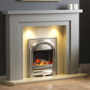Pureglow Hanley Painted Fireplace - Grey