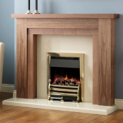 Pureglow Hanley Walnut Fireplace