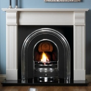 Pureglow Knighton Perla with Cast Insert Fireplace Package
