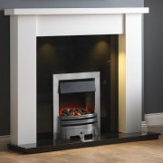 Pureglow Stanford Painted Fireplace - White