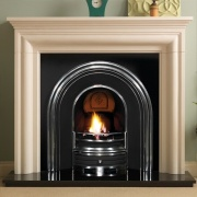 Pureglow Wenlock Limestone with Cast Insert Fireplace Package